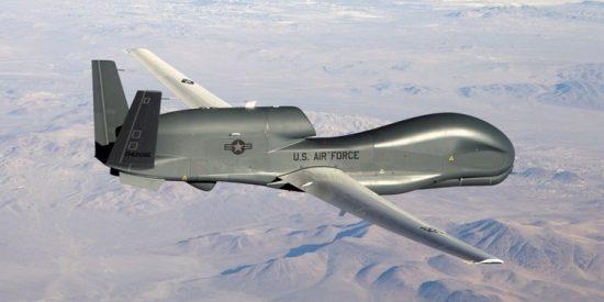 Un drone espía RQ-4, como los que utiliza EEUU sobre Irán.