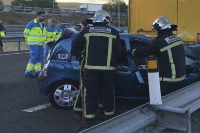 Joven de 20 años muere al colisionar su coche contra un camión en la M-50 tras cruzarse un jabalí