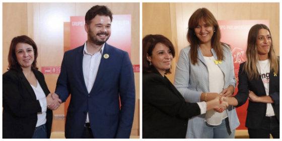 El 'Lastre' del PSOE: Adriana sintoniza con Rufián y otros golpistas para que hagan otra vez presidente a Sánchez
