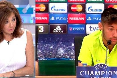 "Ana Rosa Quintana se lo dice muy clarito a Neymar Jr: ""Eres un descerebrado, chaval"""