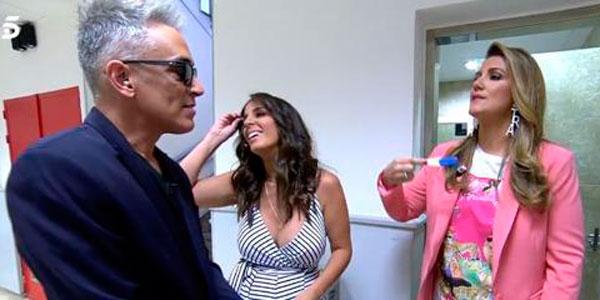 Anabel Pantoja se hace un test de embarazo en directo en 'Sálvame' y se 'monta el belén'