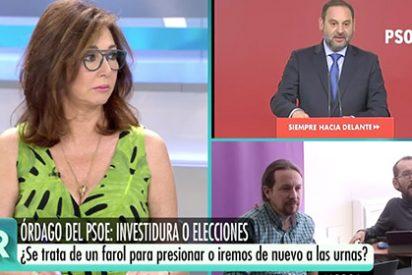 """Ana Rosa Quintana tiene el mayor arranque de hartazgo contra el pedigüeño Iglesias: """"¡Que le den un ministerio y nos deje en paz ya!"""""""
