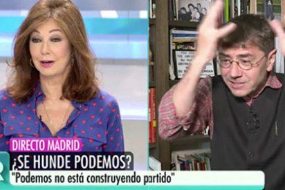 "Brutal paliza de Ana Rosa a Monedero, resistiendo como si fuera 'el último podemita': ""¡Eres un pelota de Iglesias!"""