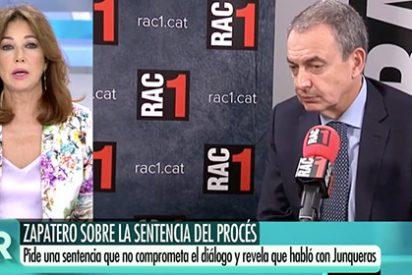 """El palo épico de Ana Rosa a Zapatero: """"Después de estropear el tema de Venezuela, ¿este señor va a venir a jo... Cataluña?"""""""