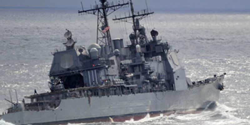 Este buque de EE.UU. se cruza en el trayecto de un barco ruso en el mar de la China Oriental y pasa esto…