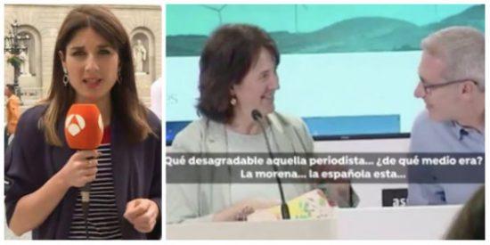 """La presidenta de la ANC da otra muestra más del nazismo de los indepes con este ataque a una periodista: """"¡Qué pesada la española esta!"""""""