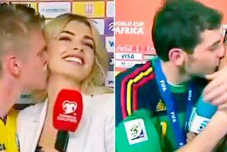 Intentó imitar el histórico beso de Iker Casillas a Sara Carbonero y el resultado no fue el que esperaba