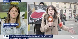 El vídeo que resume el asqueroso infierno 'indepe' al que se ha enfrentado con valentía la periodista Blanca Basiano (Antena3) antes de abandonar Cataluña