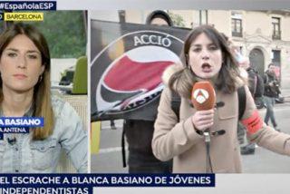El vídeo que resume el asqueroso infierno 'indepe' al que se ha enfrentado con valentía la periodista Blanca Basiano (Antena3)