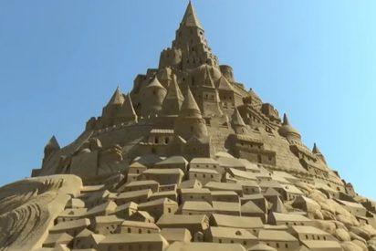Este castillo de arena gigante consigue el récord Guinness en Alemania