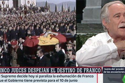 """Pérez Henares estalla harto de Franco y de los que no hacen más que invocarle: """"¡No puedo más! ¡Vi a Franco más enterrado en los años 80 que ahora!"""""""