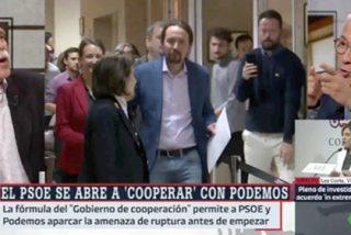 """'Chani' se guasea de Sardá por entrar al capote de Iglesias como loco: """"¡Parece mentira que te lo creas!"""""""