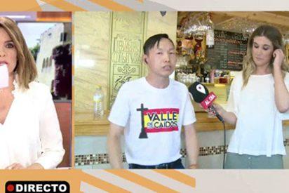El empresario chino franquista consigue 'reventar' a Carme Chaparro, que acaba soltando una perla de lo más necia