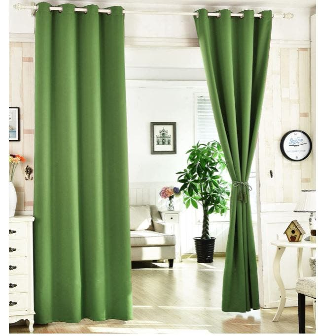 cortinas térmicas en verde