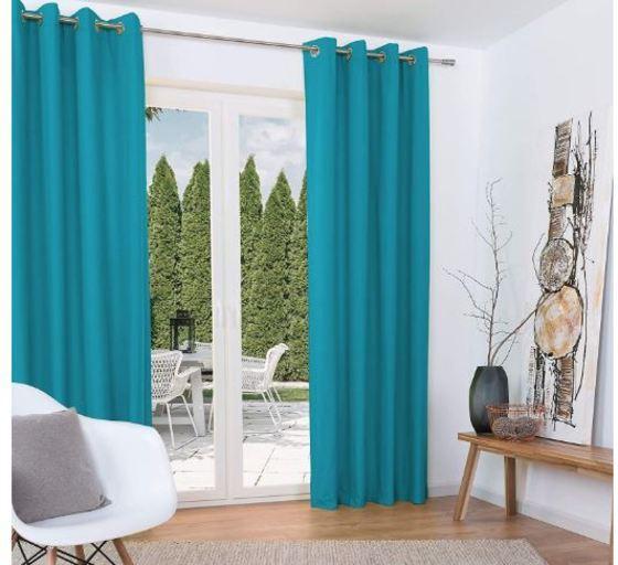 cortinas térmicas azul turquesa