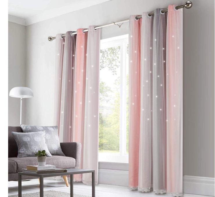 cortinas térmicas bicolor con estrellas