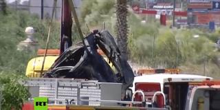 Las terribles Imágenes desde el lugar del accidente en el que murió el futbolista José Antonio Reyes