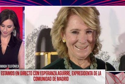 Esperanza Aguirre se harta de las mentiras de Marta Flich, feminista de pega y franquista de novio