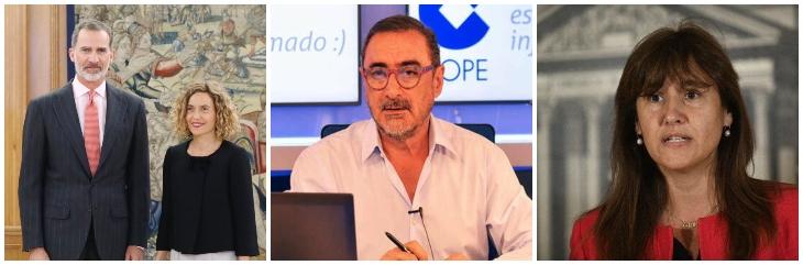 """Carlos Herrera destroza a la separatista que le dirá al Rey que ''existen los presos políticos'': """"Si supieras castellano, le dirías que existe corrupción y 3%"""""""