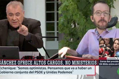 ¡Al portavoz de Sánchez le van a ir con cuentos...! Ferreras corta a Echenique y le hace tragar saliva y sus mentiras