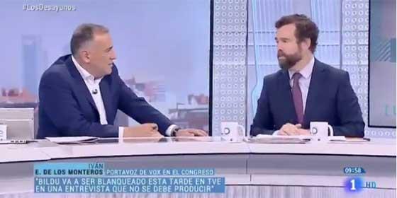 """Espinosa de los Monteros machaca a Fortes por justificar la entrevista a Otegi en TVE: """"Supongo que le preguntarán por todos los asesinatos cometidos"""""""