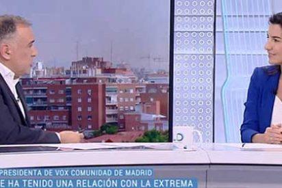 """Xabier Fortes pregunta a Rocío Monasterio por Primo de Rivera y la respuesta es brutal: """"Seguramente esté usted más cerca por edad que yo"""""""