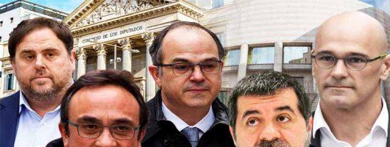 ¡Aleluya!: El Congreso confisca a los golpistas catalanes presos la pasta que han cobrado desde el 28-A