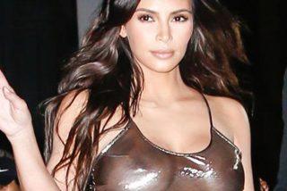 ¡Por Dios qué fina!; así sale Kim Kardashian de la piscina