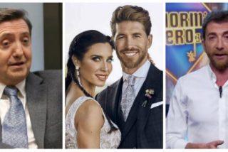 Losantos pone de vuelta y media la boda de Sergio Ramos y Pilar Rubio por el pésimo papelón del algunos invitados y Pablo Motos se lleva un 'zasca' de propina