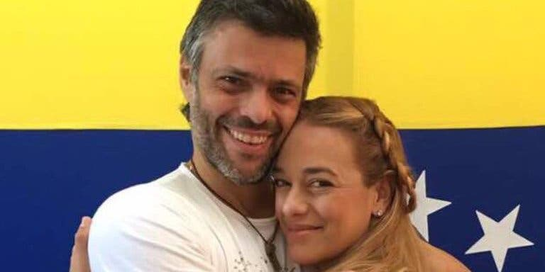 Lilian Tintori, esposa de Leopoldo López, burla el cerco chavista y está en España junto a su hija menor