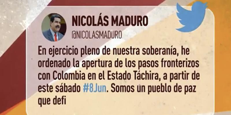 Reabren los principales pasos fronterizos entre Colombia y Venezuela tras este anuncio del dictador Maduro