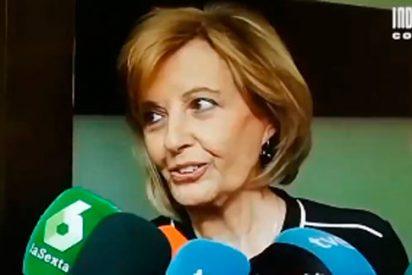 Mª Teresa Campos se presenta en el velatorio de Chicho y envía un mensaje subliminal a 'Sálvame'