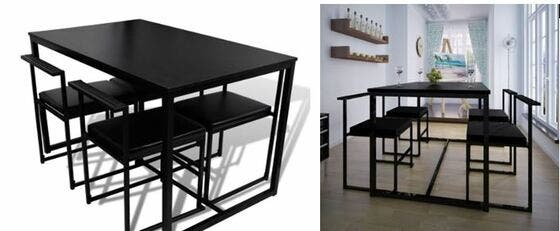 Mesas y sillas de cocina modernas,