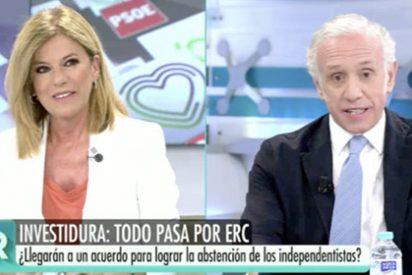"""Inda carga contra la 'groupie' de Sánchez, exultante con el apoyo del 'indepe' Rufián al PSOE: """"¡No engañes a la gente!"""""""