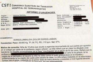 Los padres de una niña denuncian que fue agredida por su profesora por pintar una bandera española en clase