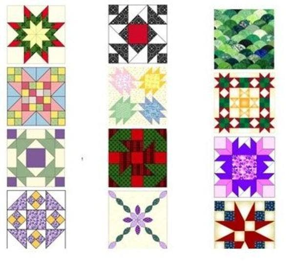 diseños o patrones de patchwork