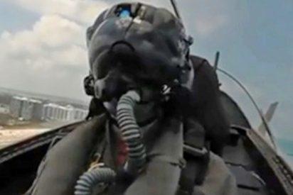 Así se vive una acrobacia aérea vista desde la cabina de un caza F-35