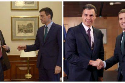 ¡Qué cara tienes, Sánchez! El presidente exige a PP y Ciudadanos una abstención que él negó a Rajoy hasta en 17 ocasiones