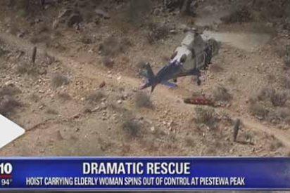 """El rescate """"salvaje"""" en helicóptero a una mujer de 70 años en EEUU que se hizo viral: """"¿Y no murió después de eso?"""""""