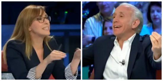 """Una rabiosa Angélica Rubio paga con Eduardo Inda que la izquierda pierda poder municipal: """"¡Eres un caradura!"""""""
