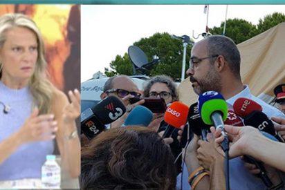 En AR ajustician al bobalicón conseller 'indepe' que desprecia a España en medio de un incendio desolador