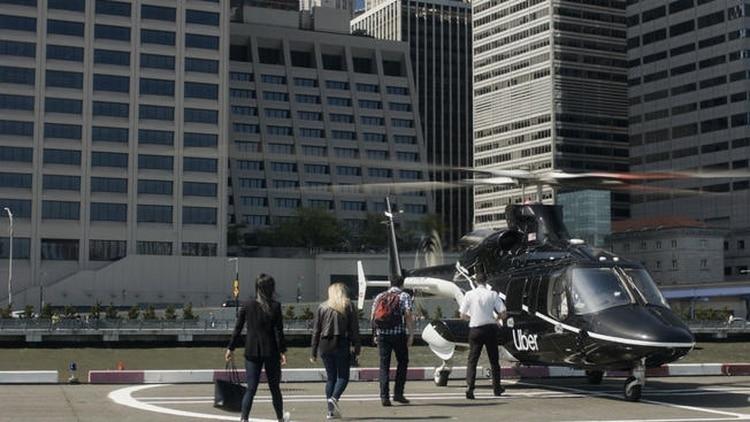 """""""Uber Copter"""": El moderno servicio de helicóptero que prevé revolucionar el transporte"""