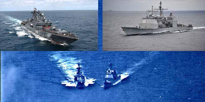 ¿Quién tuvo la culpa de que un buque de guerra de Rusia y otro de EEUU casi chocaran en el Pacífico?