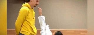 Esta niña llega a la barbilla de Zlatan Ibrahimovic con una patada