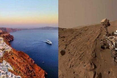 El volcán de Santorini, nuevo análogo terrestre en Marte