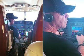 Till Lindemann, de la banda 'Rammstein', pilota el avión del grupo destino a Moscú para dar un concierto