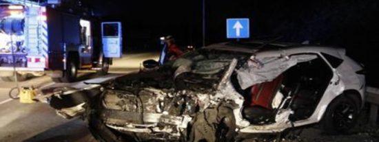 Conductor 'kamikaze' provoca este accidente múltiple en la A-8 en Gijón conduciendo a 200 km/h