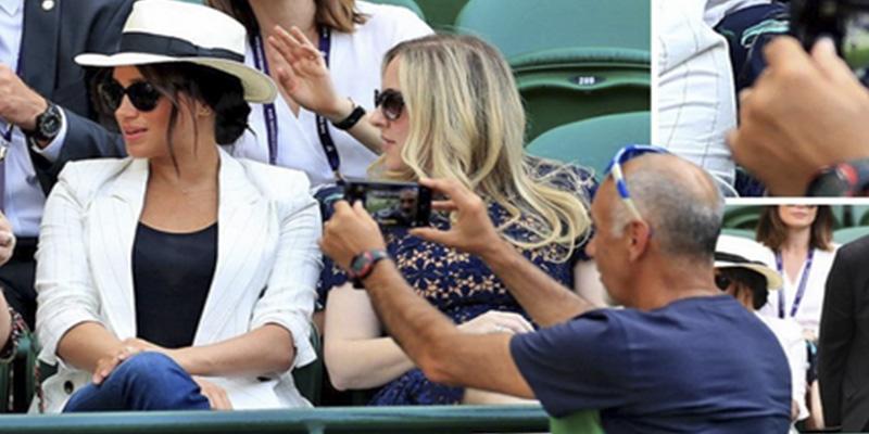 Acusan a este hombre de fotografiar a Meghan Markle en Wimbledon y resulta que se hacía una selfi