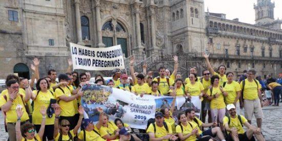 Jóvenes con discapacidad intelectual culminan el Camino de Santiago