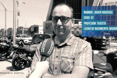 """Javier Higueras: """"En mi trabajo he visto de todo, una señorita se bajó (del taxi) a hacer pis en mitad de la calle"""""""